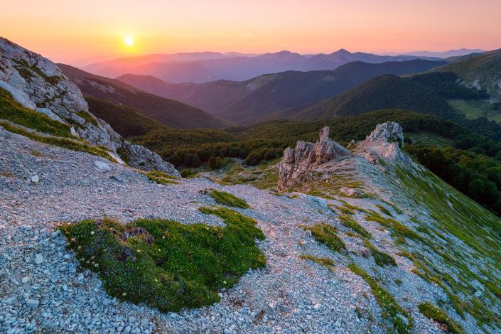 Tramonto sul Peschio delle Cornacchie - Parco Naturale Regionale dei Monti Simbruini