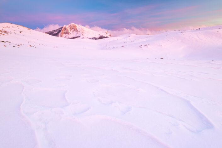 Crepuscolo alle pendici del Monte Tarino - Monti Simbruini