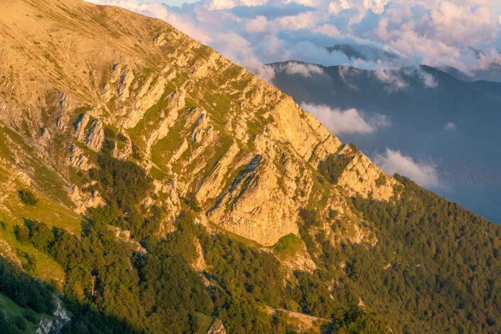 Crinali al tramonto - Monti Simbruini